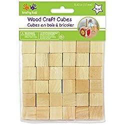 Craftwood 5/8 cubetti in legno 56/Pkg-naturale