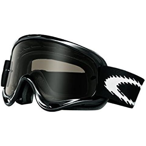 Oakley MX O Frame - Máscara de sol para bicicleta o moto negro y gris Talla:talla única