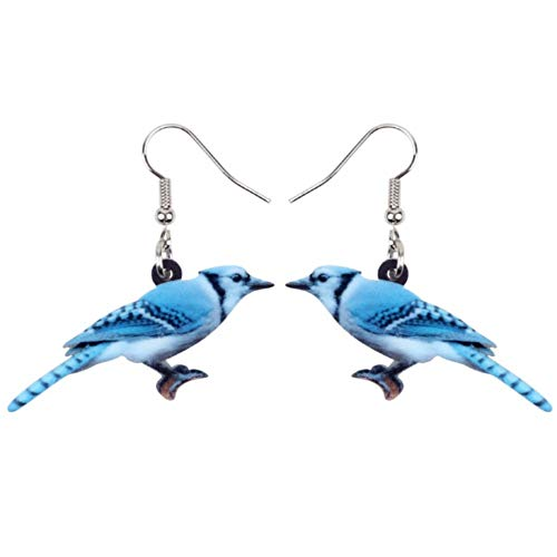 ZHWM Ohrringe Ohrstecker Ohrhänger Acryl Sweet Blue Bird Ohrringe Big Long Dangle Drop Fashion Nordamerika Tier Schmuck Für Frauen Mädchen Teens Geschenk (Blue 16 Sweet Themen)