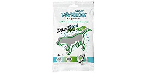 Vividog Dentisani Fresh Snack per Igiene Orale per Cani anti Tartaro