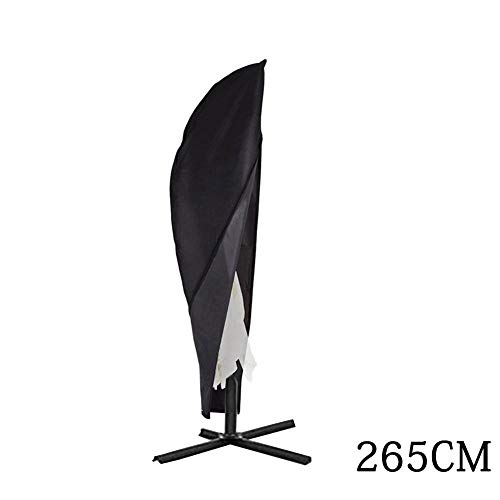 AITOCO Sonnenschirmbezug Extra Large Cantilever Umbrella Cover mit Reißverschluss, wasserdichtes, atmungsaktives Oxford-Gewebe - Schwarz -