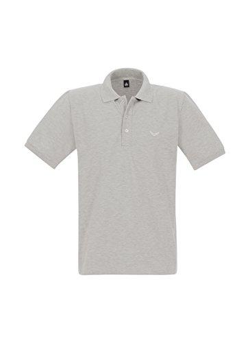 Trigema Damen Poloshirt Grau (Grau-Melange 110)