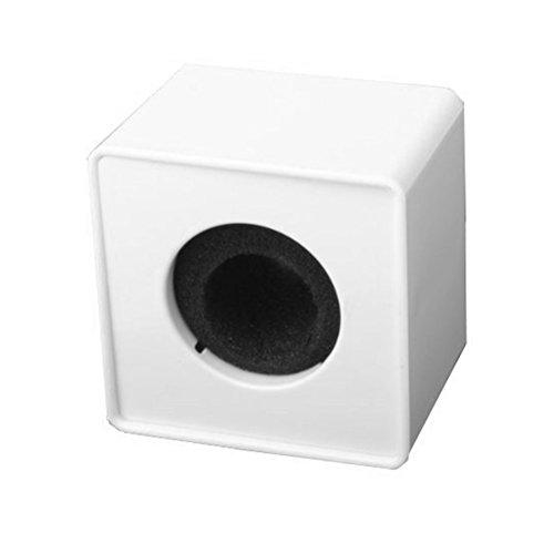winomo der Station Tragbar ABS Injektion Guss quadratisch Cube Form Interview MIC Mikrofon Logo Flagge Logo (weiß)