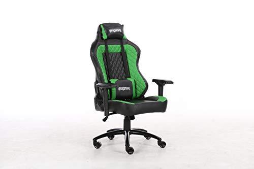 iprotect Gaming-Stuhl – Schreibtisch- und Bürostuhl mit Kunstlederbezug in Schwarz und...