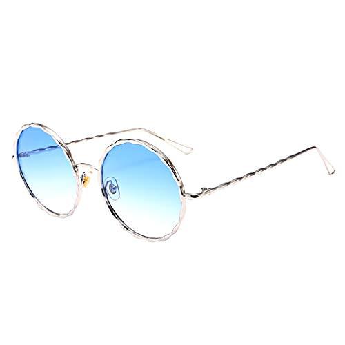 Clacce Retro Polarized Sonnenbrille Unisex Doppelte Brücke Runde Steampunk Brille