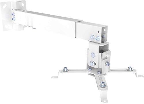 SCHWAIGER -9468- Beamer-Deckenhalterung/Projektor Wand-Halterung/universal-Halterung für Video-Projektor/drehbar und schwenkbar/hohe mechanische Belastbarkeit/max. Trag-Kraft von 20 kg -