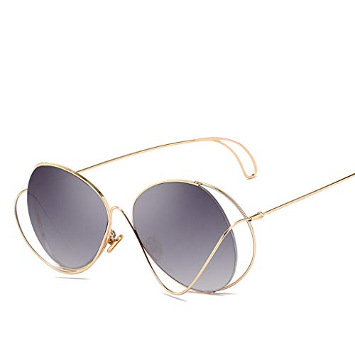 IMHERE W U Unisex Metallrahmen Hohl Sonnenbrillen Männer Frauen UV400 Outdoor-Brillen PC Taukappen Sonnenbrillen