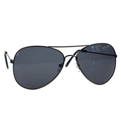 URSING Flieger Sonnenbrille Männer und Frauen, Unisex Metallrahmen Glasobjektiv Sonnenbrille Klassische Pilotenbrille Metall Designer Sonnenbrille Trendy Brillenmode Damenmode Chic Sunglasses (G)