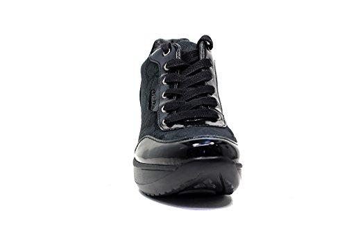 Calvin Klein Chaussures Sneaker Femmes Wedge Cm 8 Jamie Jacquard Black Noir
