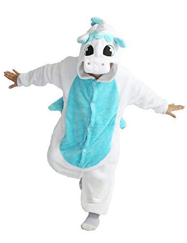 Haustiere Pyjamas Jungen-Mädchen-Nachtwäsche Cosplay Wäsche Nachtblau Flanell, 115 Bis 120Cm-130Cm ()