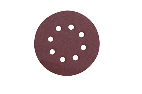 Velcro Sanding Disc 125mm (5') with 8 Holes for Dust Vacuum 180 Grit - 50Pcs Pack