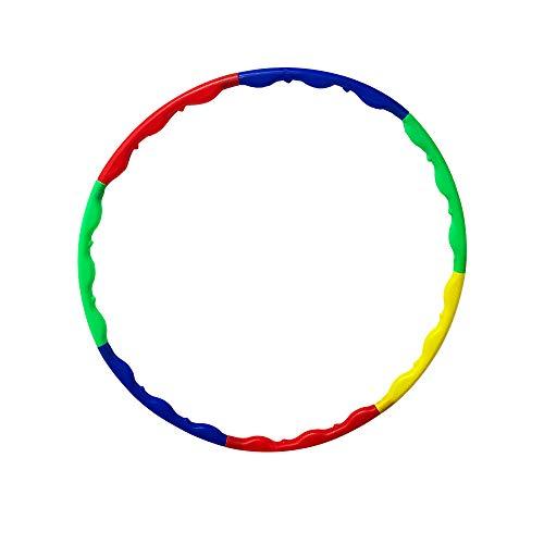 CERRXIAN Hula-Hoop-Reifen aus Kunststoff, 7-teilig, Abnehmbar, für zusätzliches Gewicht für Erwachsene und Kinder, S