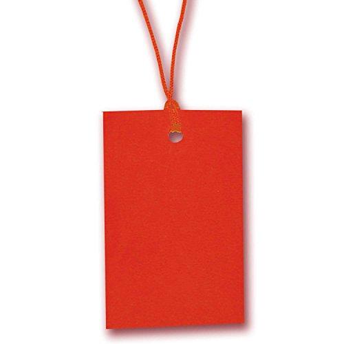 500 x Rot Zeichenfolge Preisschild Etikett Karte Hang Tag 70mm x 45mm