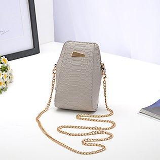 ZHANGJIA Chain Bag, Handy - Tasche, Gezeiten - Tasche, ranzen, Sommer Wilde Tasche, Mini - Tasche, Mini - Tasche,Hellgrau (Weißen Schultern Vintage Parfüm)