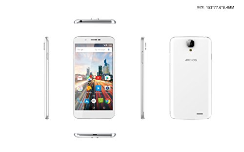 Archos Helium 55 5 5  SIM Doble 4G 1GB 16GB 2700mAh Blanco - Smartphone  14 cm  5 5    16 GB  8 MP  Android  6 0  Blanco
