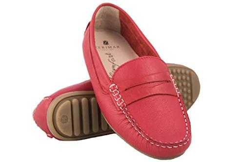 Zerimar Mokassins Damen Leder   Casual Loafers   Geschlossene Ballerinas Leder   Halbschuhe Damen   Bootsschuhe Damen Leder   Mokassins für Damen -