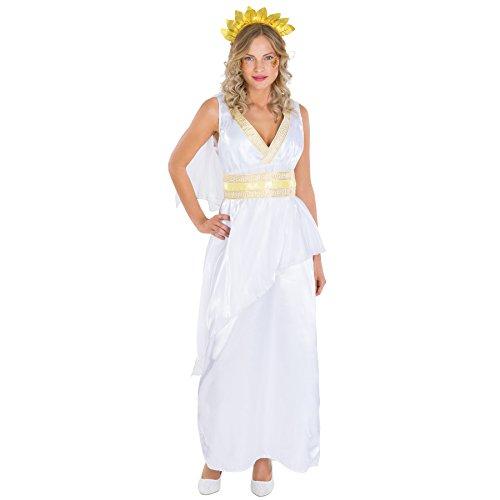 Frauenkostüm Gattin Caesar | Langes Kleid mit wundervollem Ausschnitt und königlicher Borte inkl. Gürtel und Haarschmuck (XXL | Nr. (Comic Paare Ideen Kostüme)
