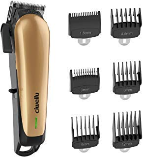 Hair Clippers for men Professional Cordless Rechargeable Hair Cutting Kit with 6 Metal Guard CombsCiwellu Electric Hair Trimmer with Taper LeverBuilt-in 2000mAh Li-ion Battery and Heavy Duty Motor -