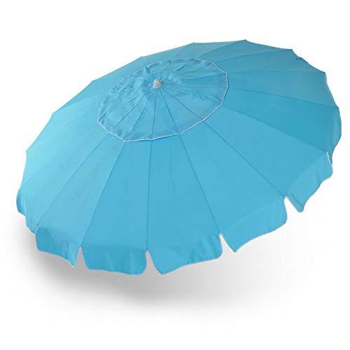 Milo srl ombrellone da mare 240 cm 16 stecche fibra di vetro antivento palo in alluminio spiaggia piscina orientabile