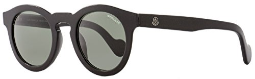 MONCLER Unisex Adults' ML0007 01N 49 Sunglasses, Black (Nero Lucido/Verde)