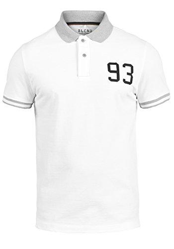 Blend Gregor Herren Poloshirt Kurzarm Aus 100% Baumwolle White (70002)