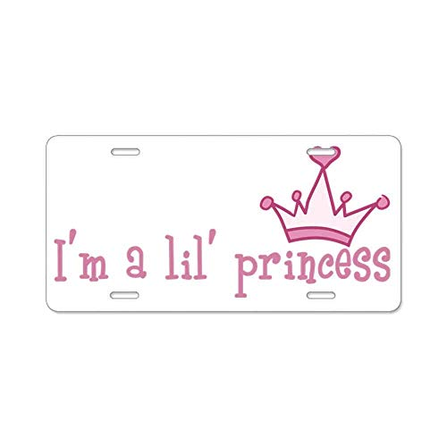 I'm a Lil' Princess Custom Personalized Aluminum Metal Novelty License Plate Cover Front Auto Car Accessories Vanity Tag- 6x12 Inches