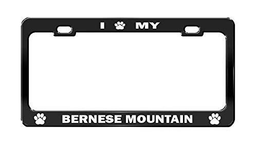 Price comparison product image I Paw My Bernese Mountain Black Dog License Plate Frame Auto Accessories