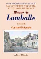 Lamballe (Histoire de). Tome III