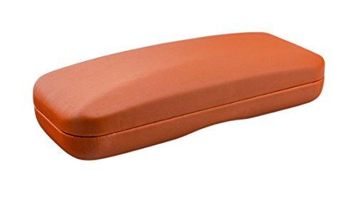 Custodia per occhiali monocolore o bicolore - disponibile in diversi colori (arancione)