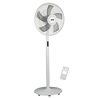 ANSIO Pedestal Fan with Remote, 8 Speed Level Stand Fan 16 inch - White ***2 Year Warranty*** Batteries NOT Included
