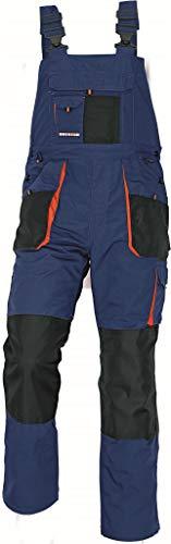 Stenso Emerton - Salopette da lavoro extra resistente - uomo - blu scuro/nero/arancione - 48
