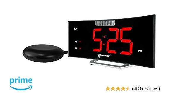 UK Version USB Charging Socket and Vibrating Bed Shaker Geemarc SBT600SS Extra Loud Alarm Clock