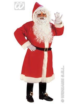 Deluxe Weihnachtsmann Mantel + Bart + Perücke