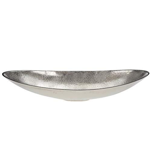 DRULINE Dekoschale aus Aluminium Oval 50 cm Ovale Schale