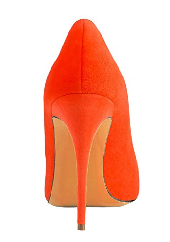 Guoar - Scarpe chiuse Donna (A-Orange Samt)