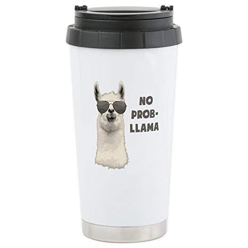 CafePress-kein Problem LAMA Travel Mug-Thermobecher Edelstahl, isoliert 16Oz Coffee Tumbler