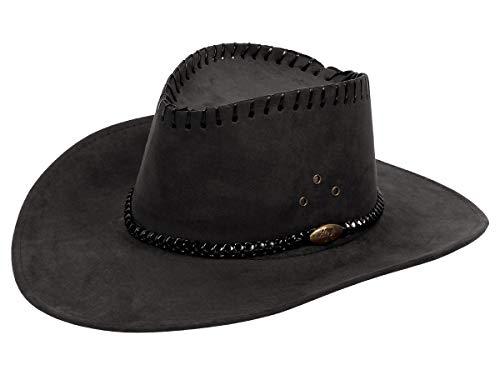 Alsino Cowboyhut Westernhut in One Size Größe aus Polyester, Schwarz (06)