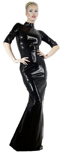 Vestido De Látex Negro Xxl