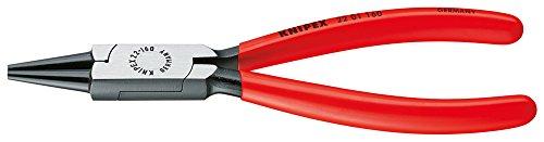 KNIPEX 22 01 160 Alicate de boca redonda negro atramentado recubiertos de plástico...