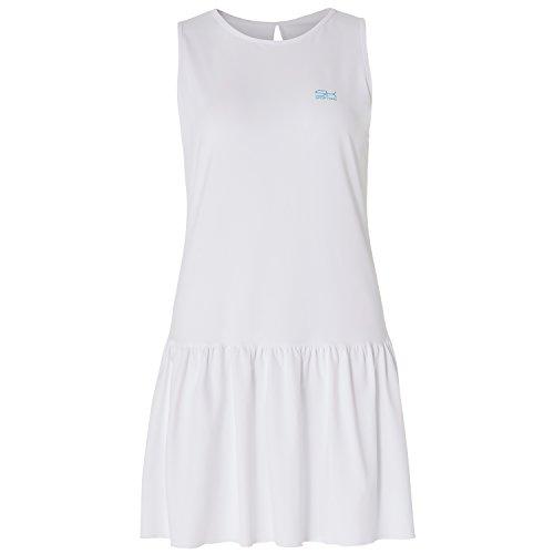 Sportkind Mädchen & Damen Tennis / Hockey / Golf Loose Fit Kleid, weiss, Gr. XXL (Tennis-mädchen-kleid)