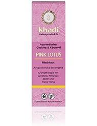 khadi Pink Lotus Körperöl 100ml I natürliches Gesichts & Körperöl für Problem- & Mischhaut I verleiht der Haut neue Balance. I ayurvedisches Massageöl mit beruhigender Wirkung I 100% pflanzlich