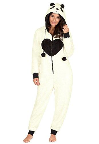 ONEZEE Damen Strampelanzug Gr. Medium, (Kostüm Panda Strampelanzug)