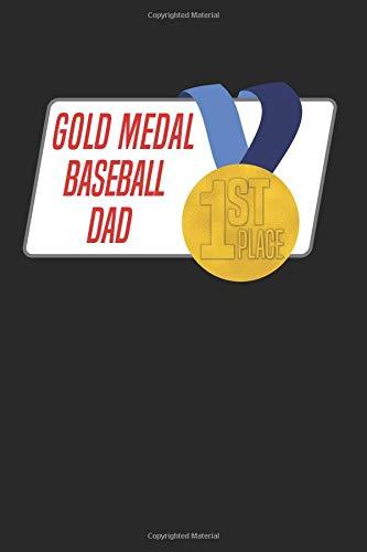 Gold Medal Baseball Dad: Blank Lined Journal