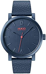 HUGO by Hugo Boss Men's Stainless Steel Quartz Watch with Leather Strap, B