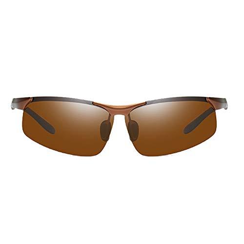 Li Kun Peng Aluminium-Magnesium-Sonnenbrille Halbrahmen Waschbare Außen Einen.Kreislauf.Durchmachenabnutzung Polarisiert Sonnenbrillen UV-Licht Und Schatten,C