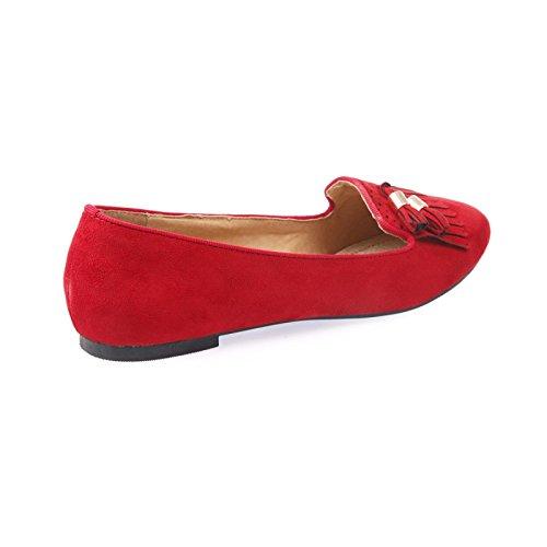 Camoscio Grande Fashionista La Rosso Pantofole Imitazione OPtax