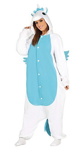 Costume pigiama unicorno azzurro tutone cosplay