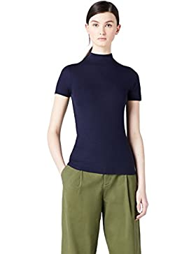 MERAKI T-Shirt Slim Fit a Collo Alto Donna