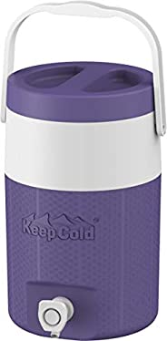 Cosmoplast-MFKCXX002VI Keep Cold Plastic Insulated Water Cooler 1 Gallon - Violet, 4 Litres