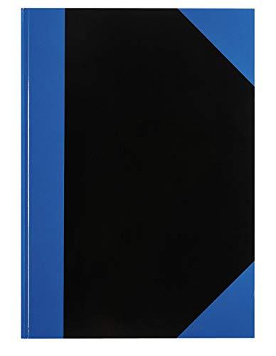 Idena 542900 - Kladde DIN A4, 192 Seiten, 70 g/m², liniert, Cover blau/schwarz, 1 Stück